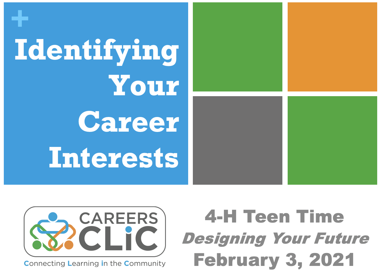 Webinar Recording: Identifying Your Career Interests